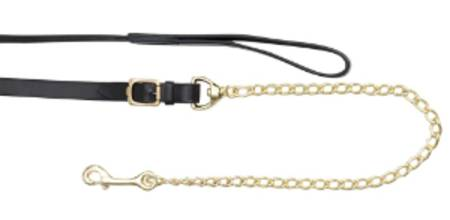 Aintree Leather Lead/ Solid Brass  Chain