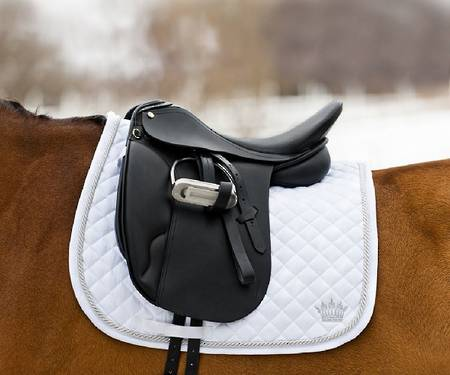 Horze Silver-Cord Dressage Saddle Pad