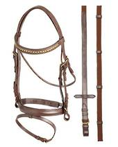Aintree Brass Chain Brow Bridle