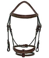 Platinum Patent Piping Hanovarian Bridle