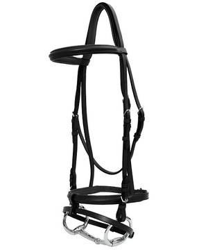 Platinum Raised Padded Hanoverian Bridle